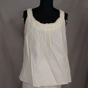 Ivory Cotton & Silk Summer Tank Blouse Feminine